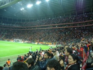 The few Elazığspor supporters are just visible top left. You might need a magnifying glass.