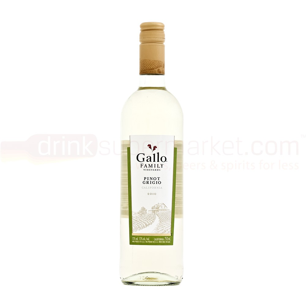 A bottle of Pinot Grigio. Other grapes are available.